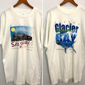 Vintage Alaska Single Stitch T-shirt Bundle 2 XXL